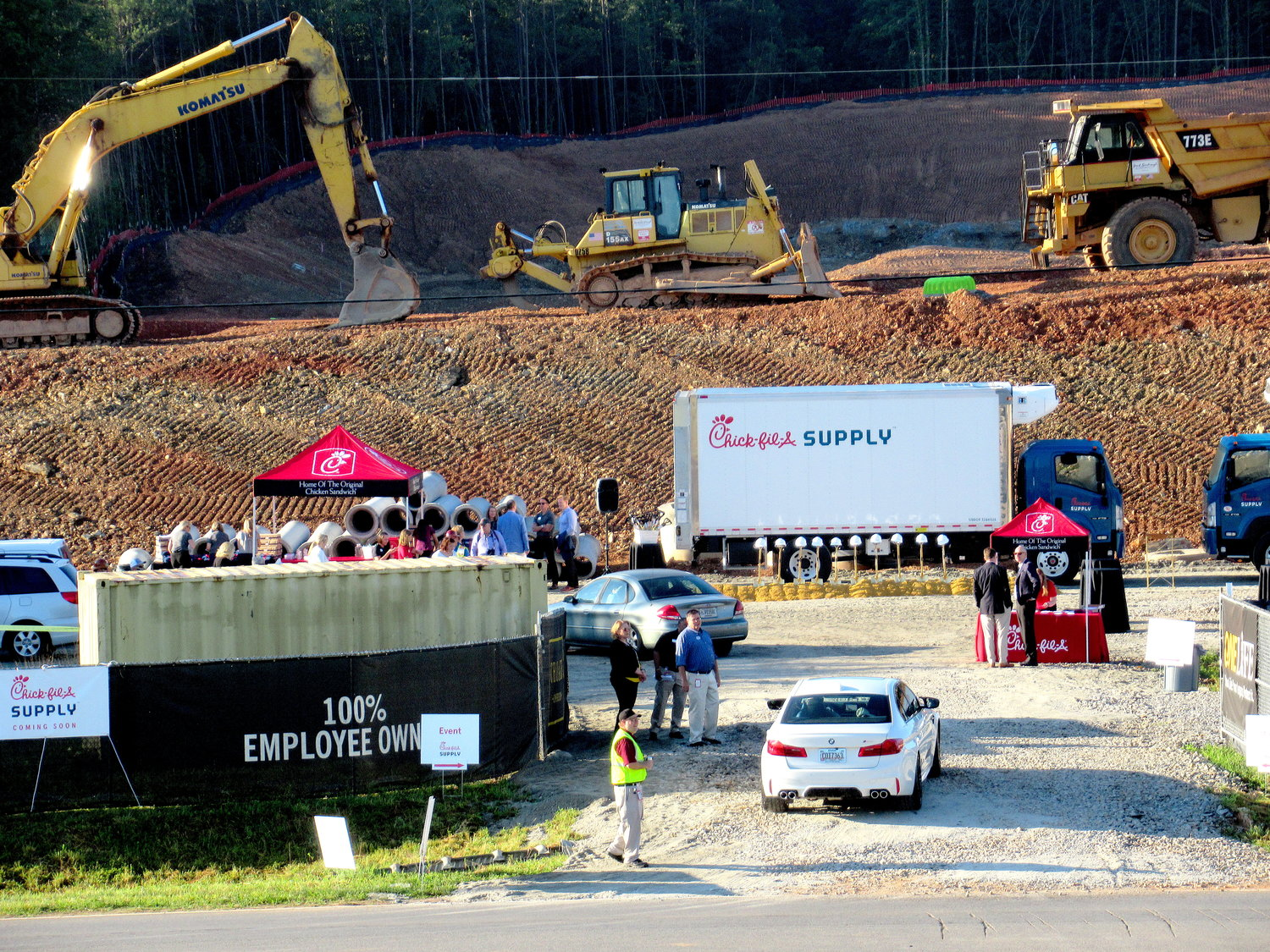 A groundbreaking ceremony for the Chick-fil-A Supply distribution center off Cass-White Road took place Friday morning.
