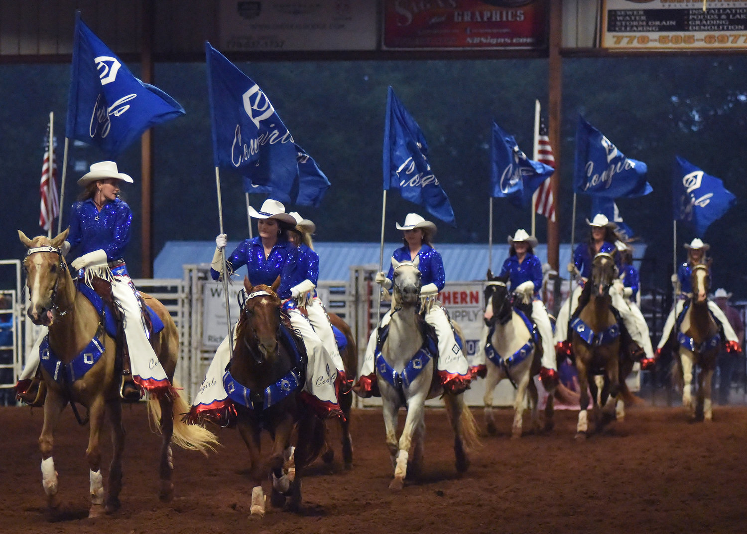 The Diamond D Cowgirls, of Mansfield, performed during the 2018 Bartow County Championship Rodeo.