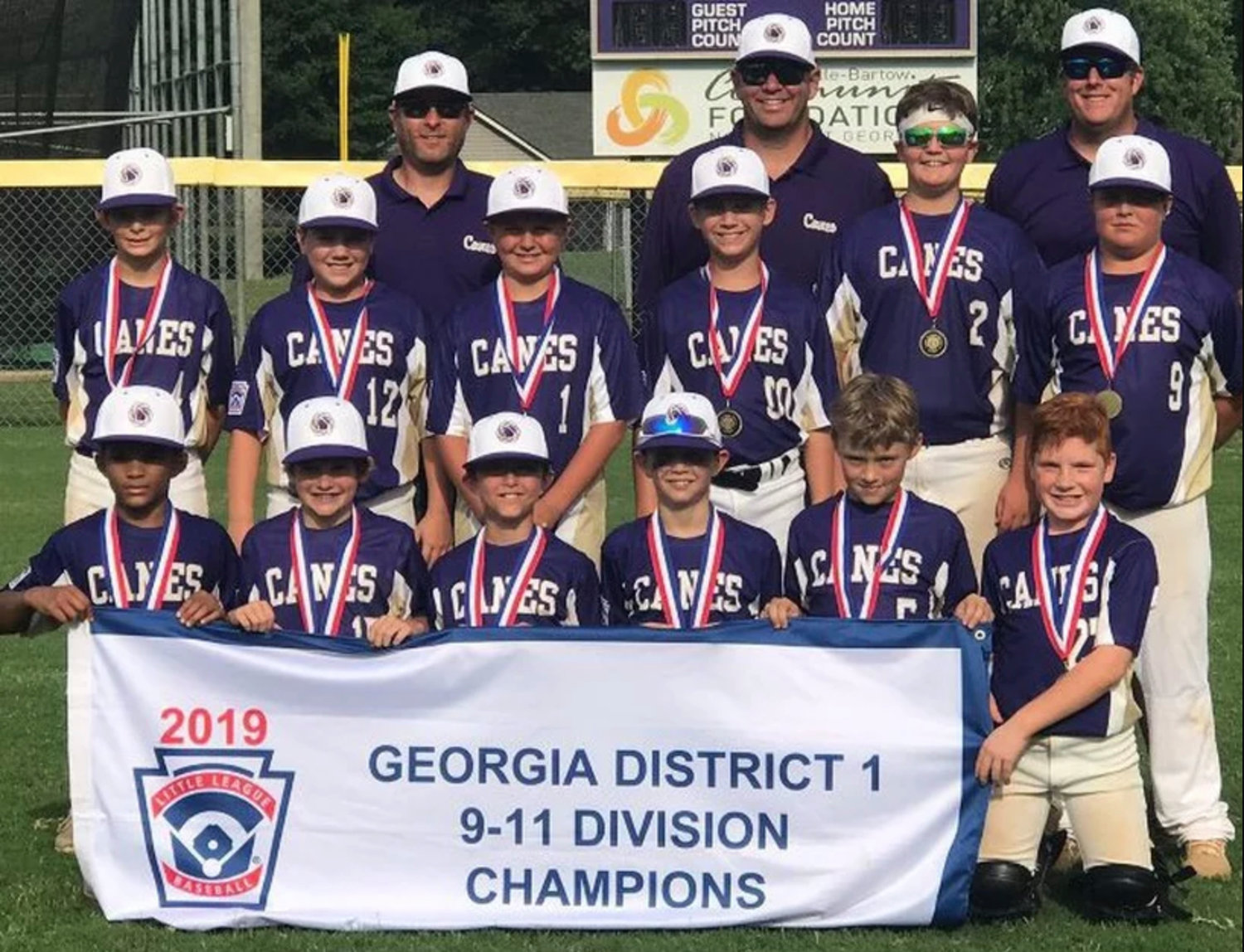 Cartersville finished fourth in the 11U Georgia Little League state baseball tournament in Savannah.