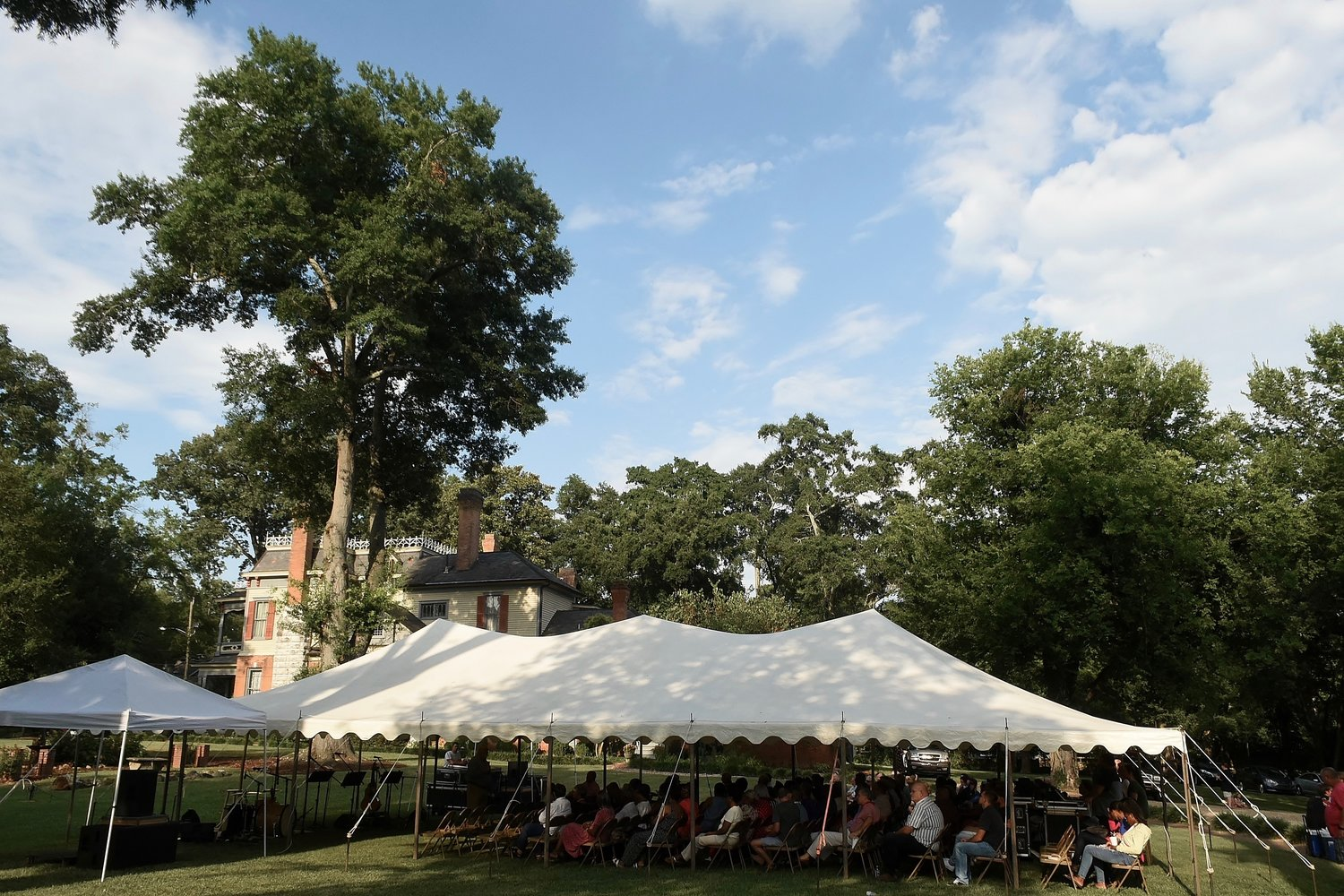 More than 200 people from over 12 different churches attended Anchor Ministries' Interfaith Gathering on the grounds of Rose Lawn Museum July 28.