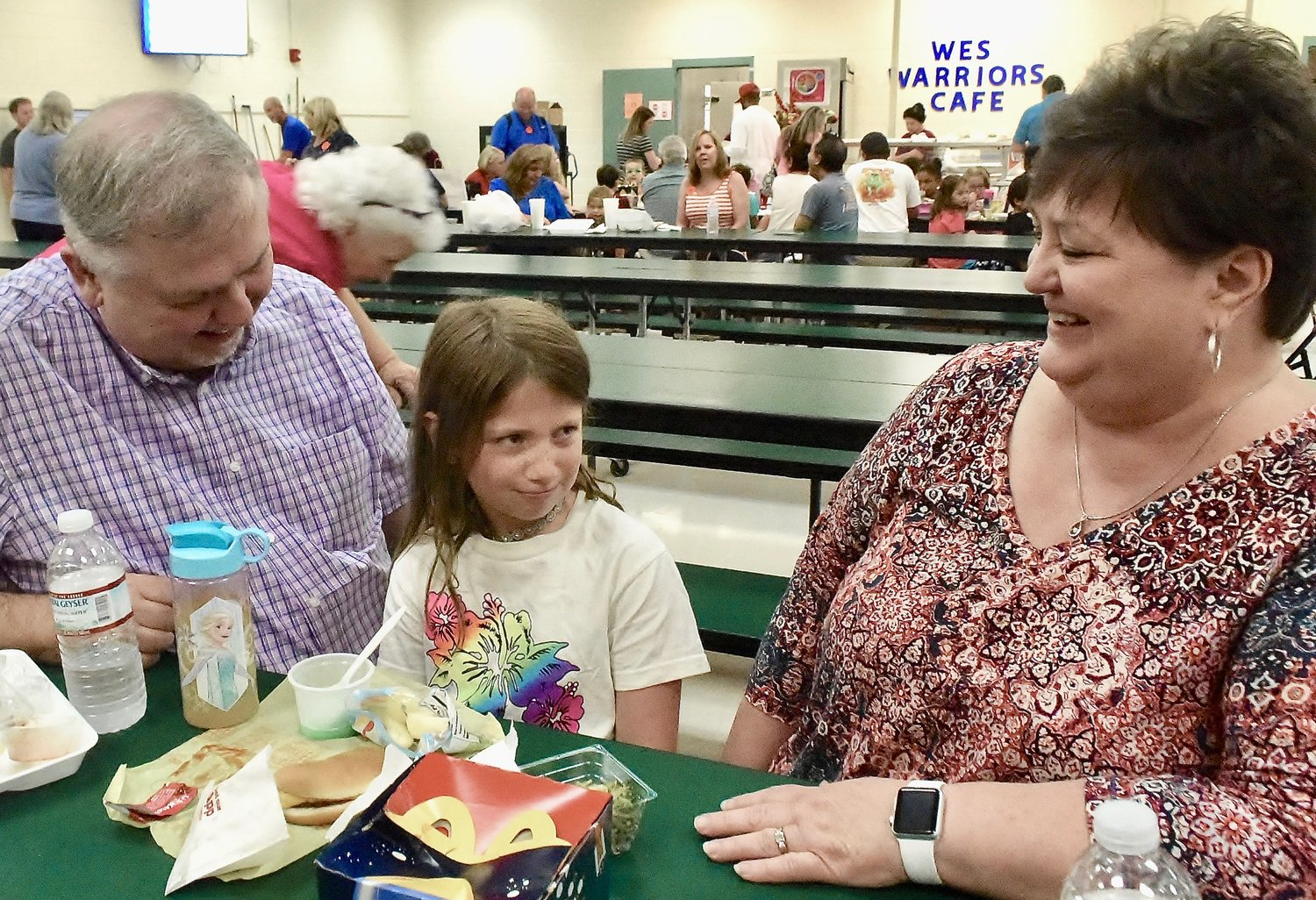 Rick and Debra Herron drove down from Knoxville, Tennessee, Friday to have lunch with their granddaughter, first-grader Kendall McDaniel, 6, at White Elementary School in celebration of Grandparents Day today.