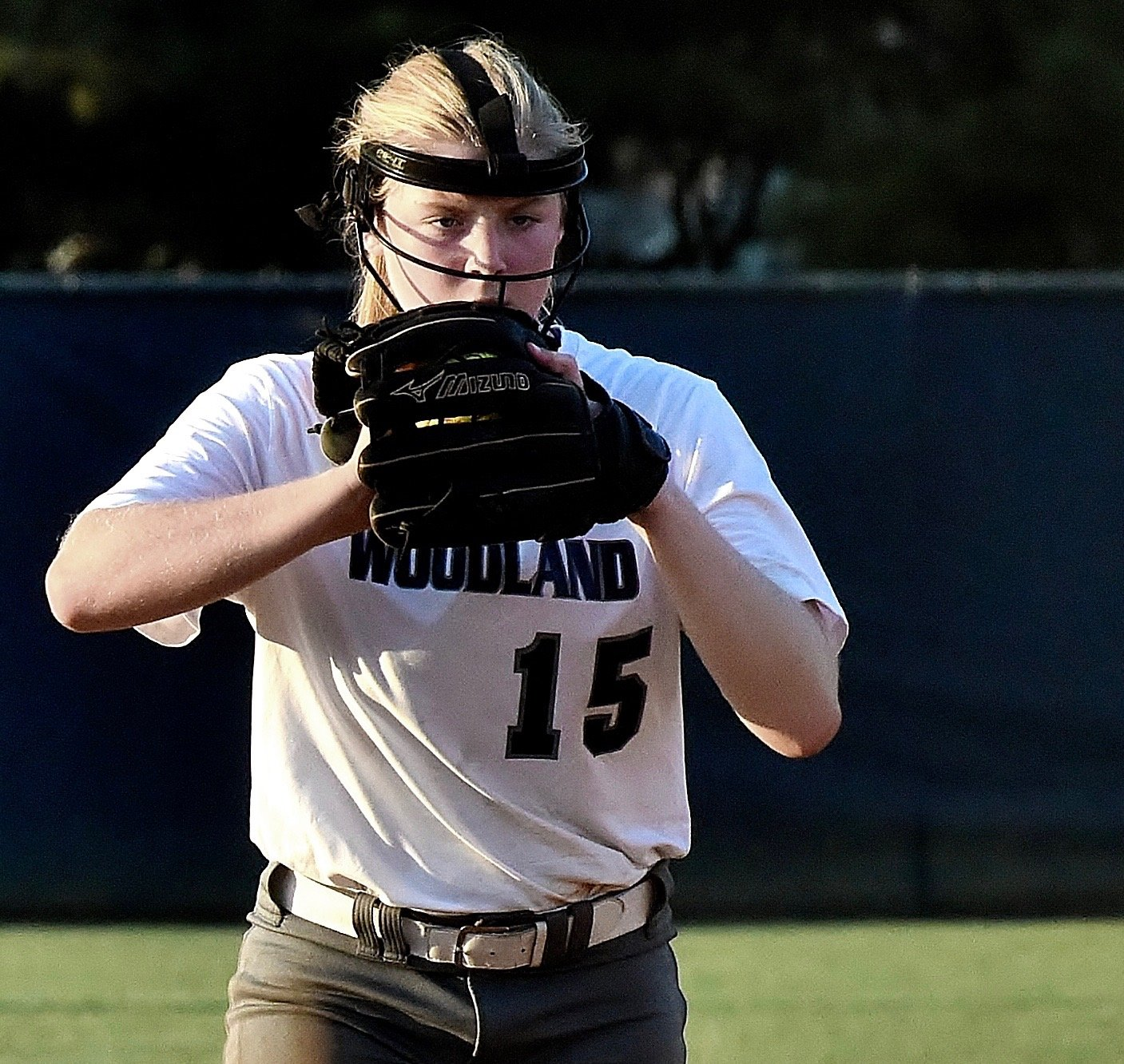 Woodland sophomore Lainey Baker prepares to pitch during a home game earlier this season against East Paulding. Baker and Co. will head to Chamblee for a Class 5A state playoffs first-round series, beginning at 2 p.m. Tuesday.