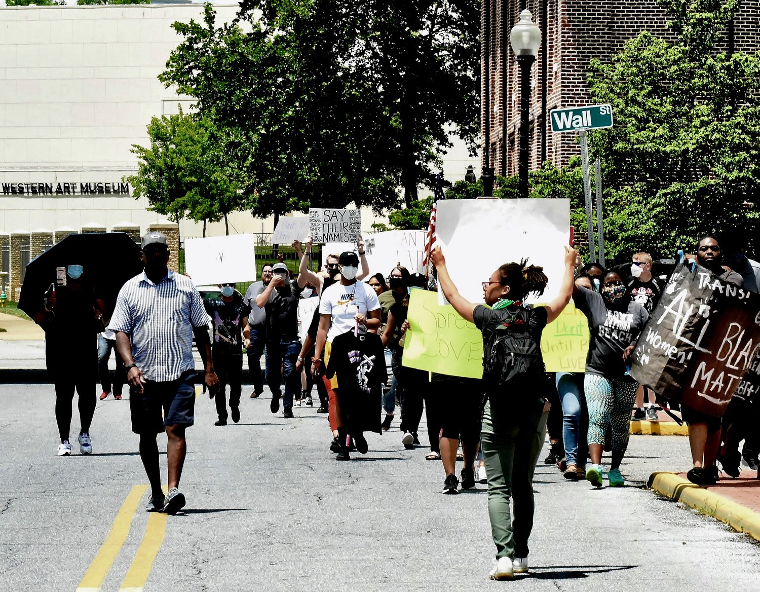 Hundreds of people participated in a demonstration through downtown Cartersville Saturday.
