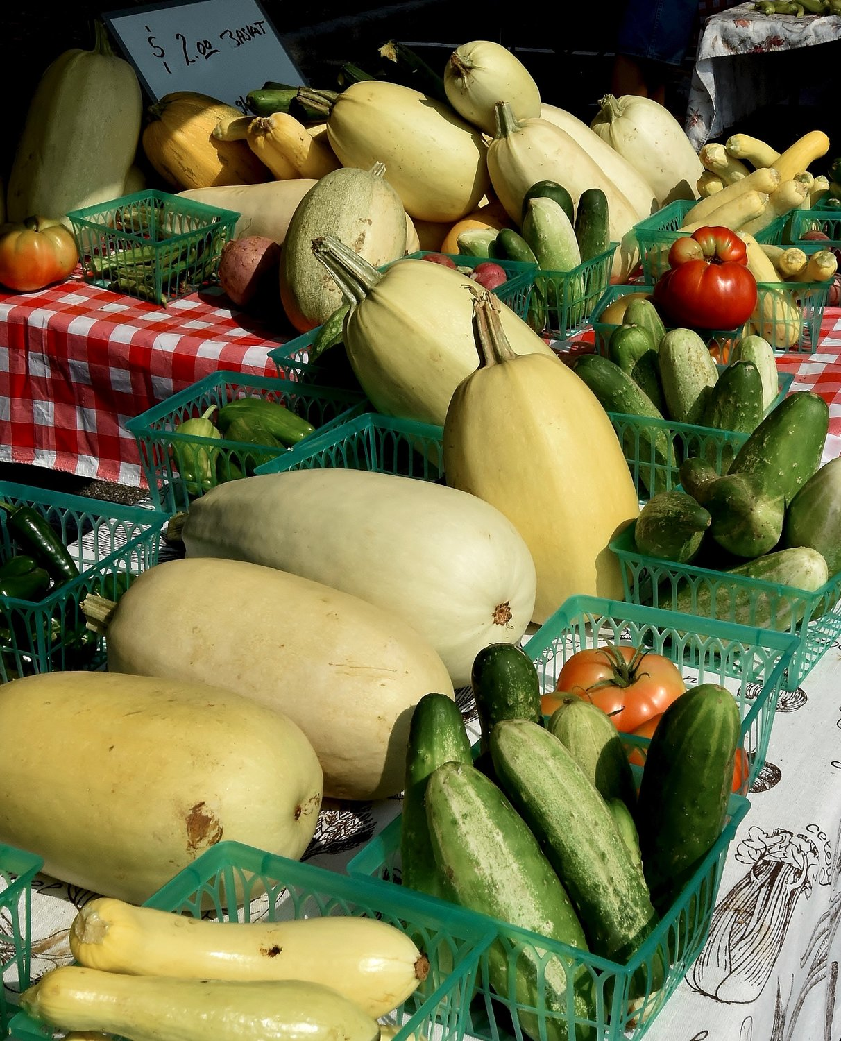 A variety of locally-grown vegetables and fruits are available weekly at the Cartersville Farmers Market. The downtown fixture is open from 8 a.m. until noon every Saturday morning through Sept. 26.