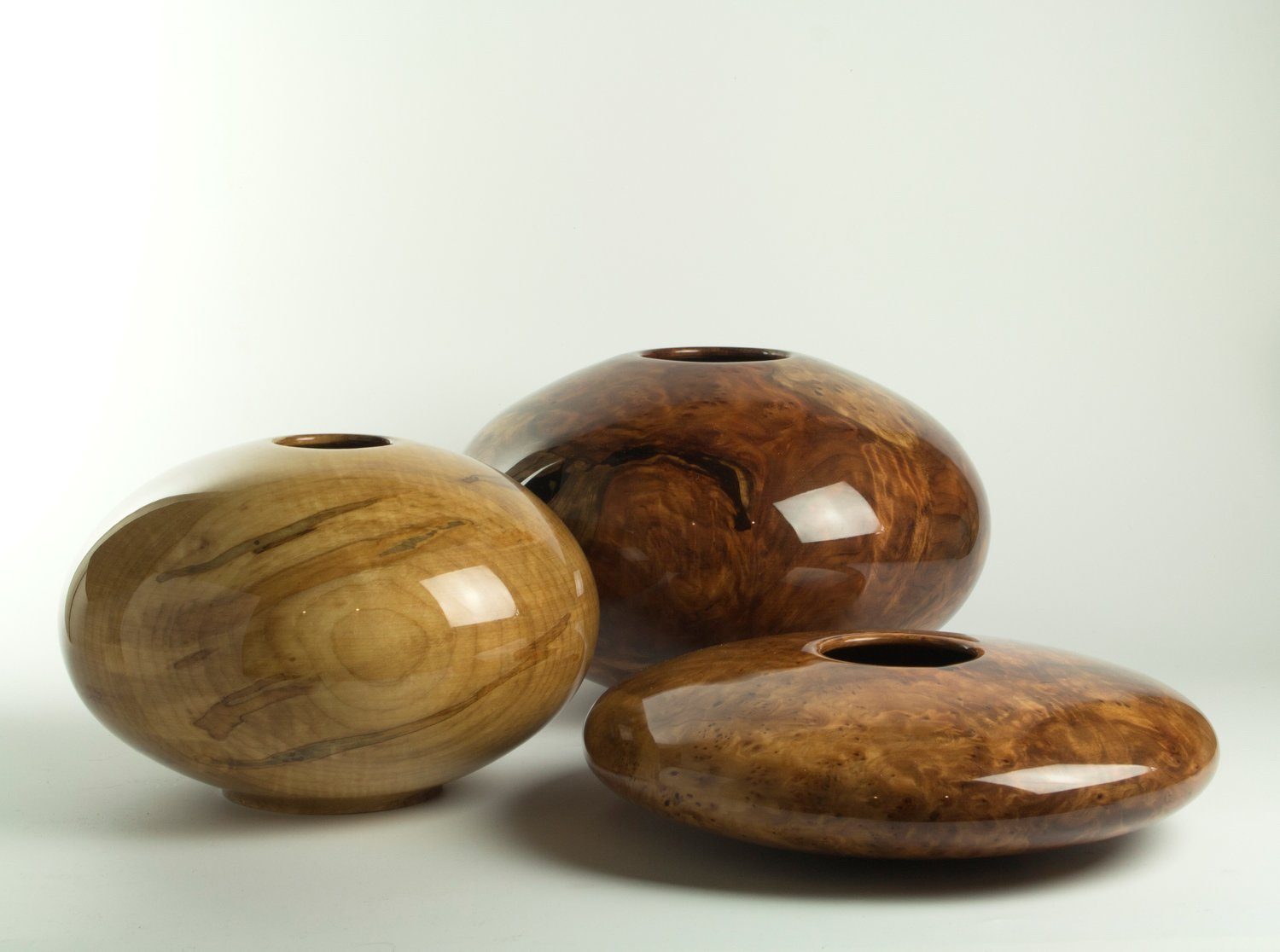 These three bowls are examples of Philip and Matt Moulthrop's creations with Western woods.