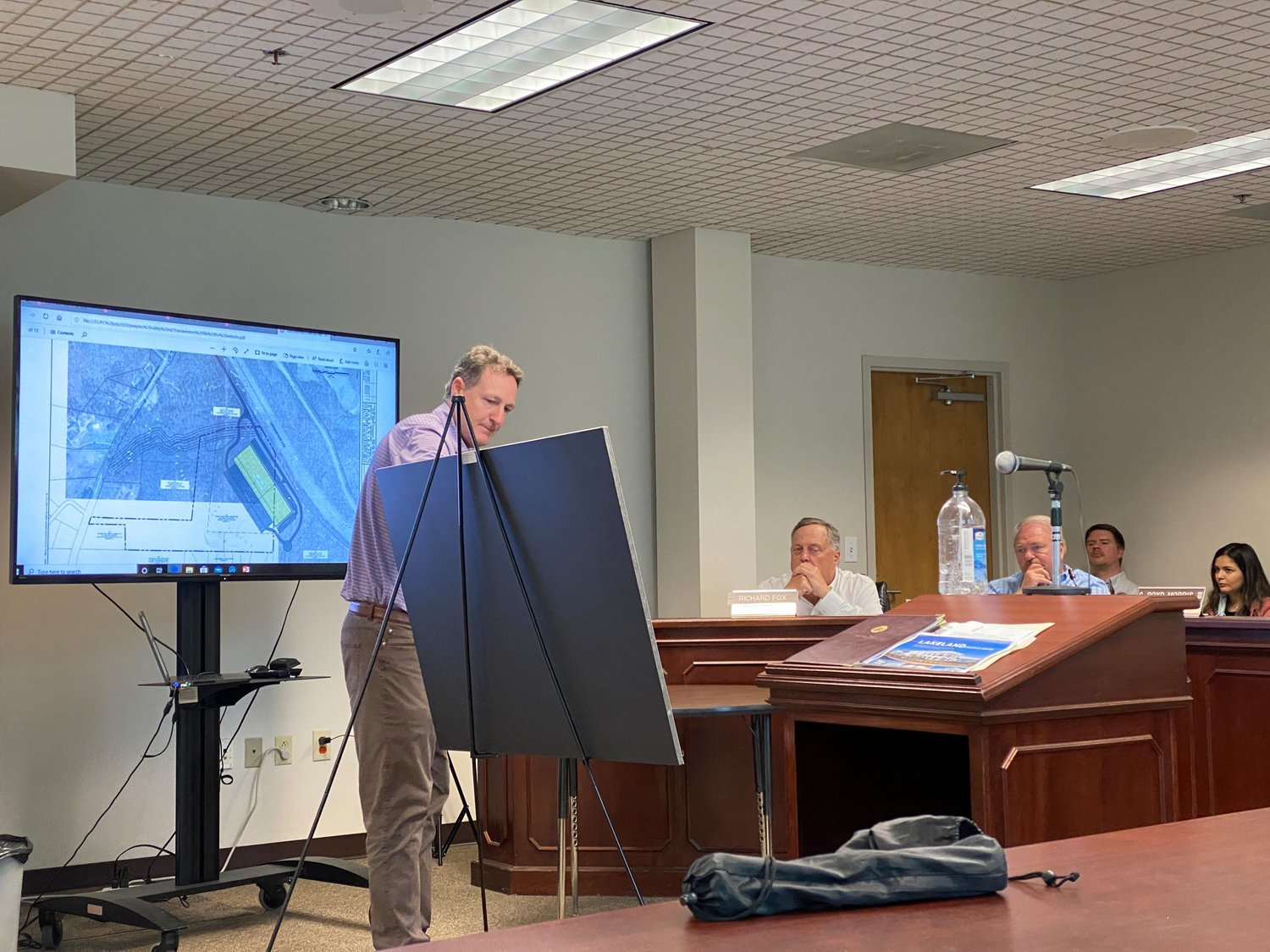 Karl Lutjens speaks before the Bartow County Planning Commission earlier this year concerning a proposed Transwestern development along Peeples Valley Road.