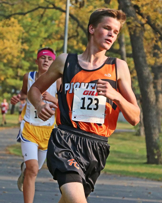 Fort Calhoun's John McKennan runs Thursday at Walnut Grove Park in Omaha.
