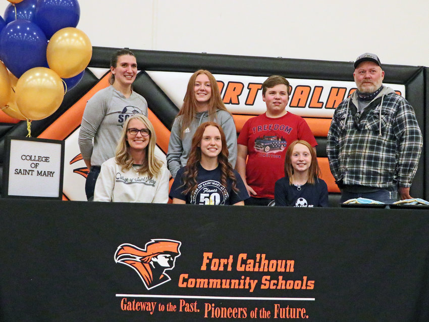 Fort Calhoun senior Abbie Anderson signed her letter of intent Thursday to play soccer at the College of Saint Mary.