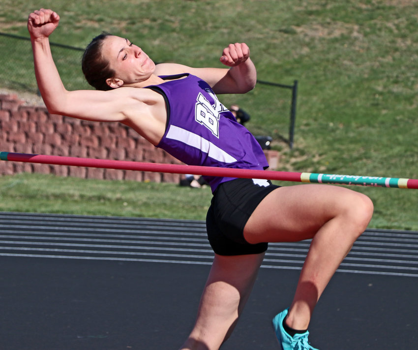 Blair high-jumper Tessa Villotta leaps Saturday at Ralston High School.