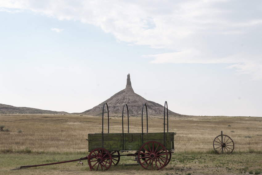 No landmark is more closely associated with the Oregon Trail than Chimney Rock.