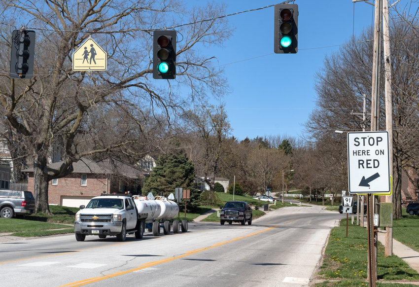 The school crossing on state Highway 91 east of 23rd street at the former West School will be removed by the state during a resurfacing project. It will be replaced with flashing lights to alert drivers that pedestrians may be crossing the street.