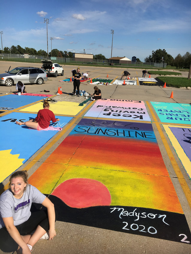 2.28.20 Blair High School students offered painted parking stalls 1.jpg