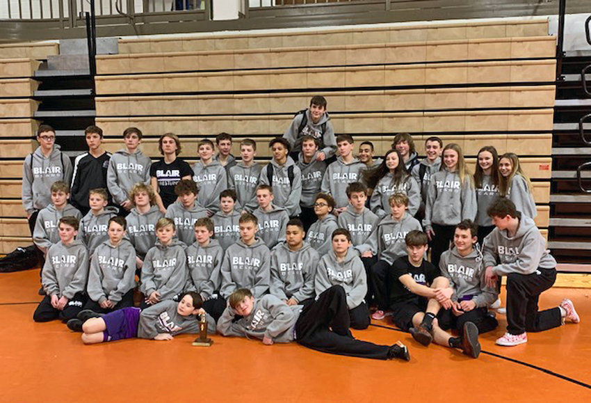 The Otte Blair Middle School wrestling team won the Oakland-Craig Invitational on Monday by more than 120 points.