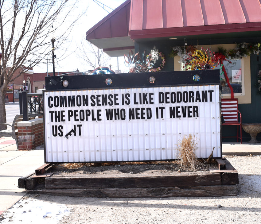 Lisa Warren is challenged to change this sign almost every day.