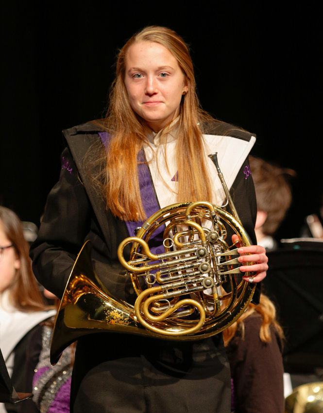 Caitlyn Haggstrom was accepted to the National Association for Music Education (NAfME) 2019 All-National Honor Ensembles. She attended the honor band Nov. 7-10 at Gaylord Palms Resort and Convention Center in Orlando, Fla.