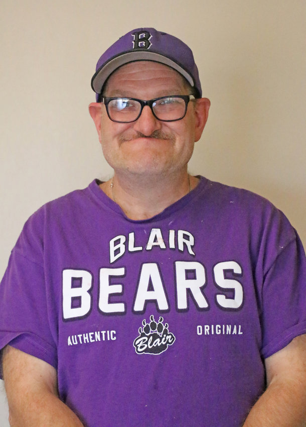 Jerry Clift was a member of the 1988 Blair football team and now competes in Special Olympics.