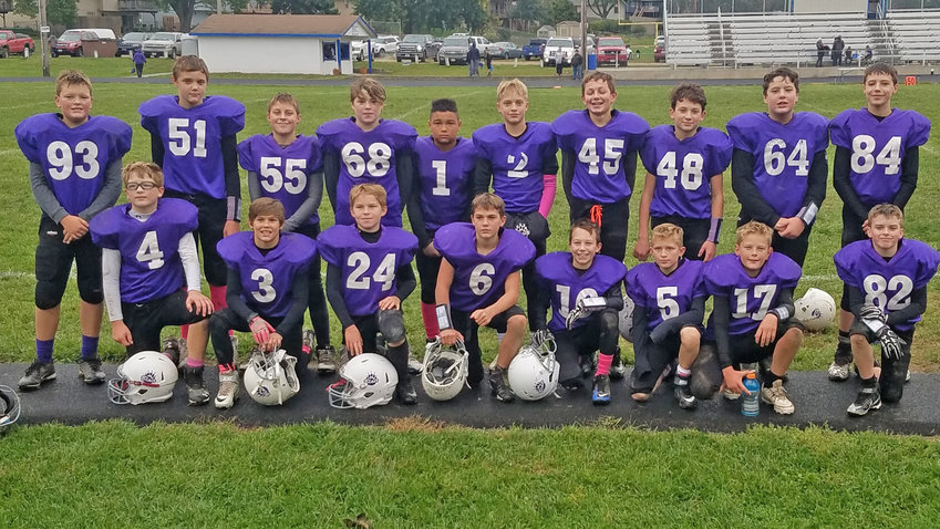 The Blair Youth Football sixth-grade team poses for a photo after their semifinals win against Waverly on Oct. 21.