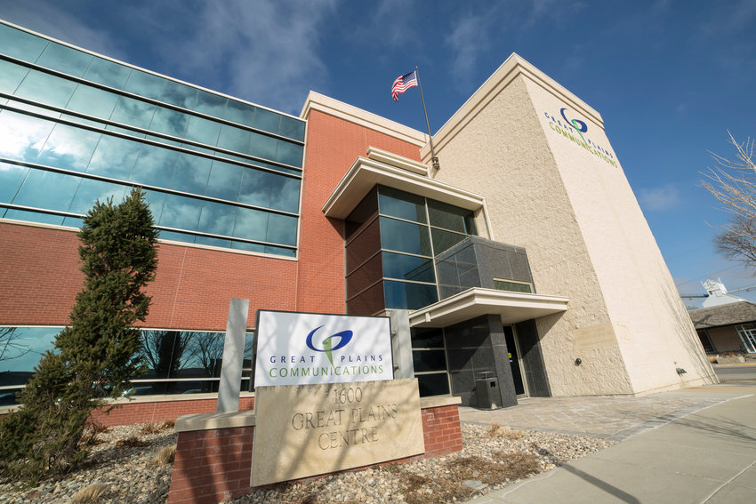 Great Plains Communications, whose corporate headquarters are shown at North 16th and Front streets, Blair, recently announced plans to install fiber optic for downtown Blair businesses.