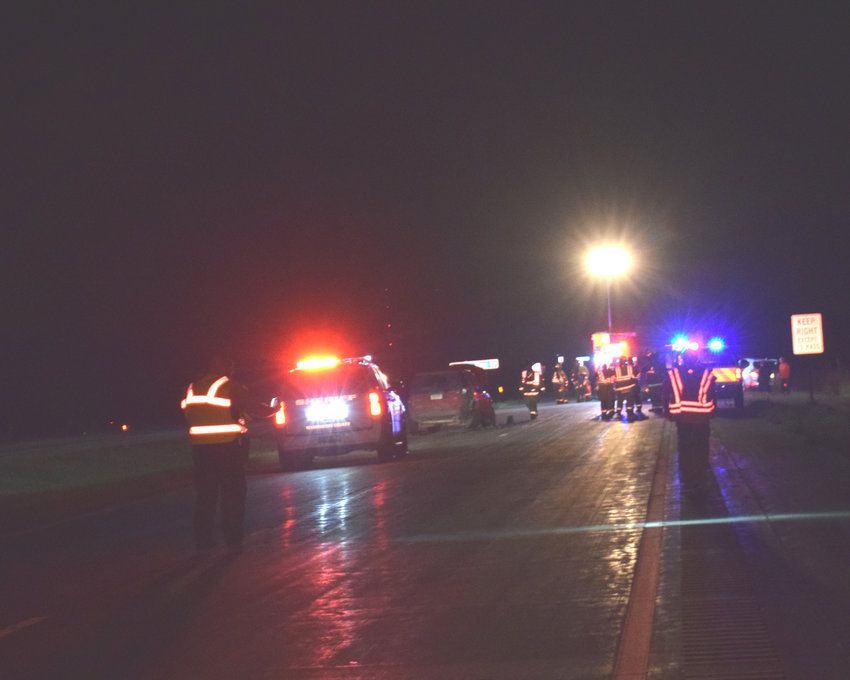 A three-vehicle accident on Thursday night did not result in injuries but closed the road southbound on state Highway 133.