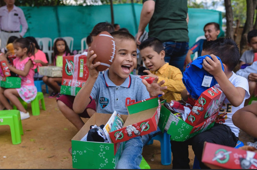 Operation Christmas Child shoeboxes are being collected at PassageWay Church. The boxes are sent to children with toys, school supplies and other items.