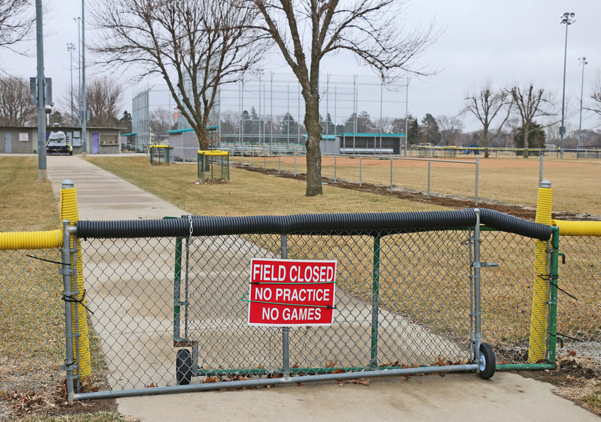 The Blair Youth Softball Association complex gate was closed in March. School sports, state associations and local organization's sports suspended practices and games amid the country-wide 2020 coronavirus spread.