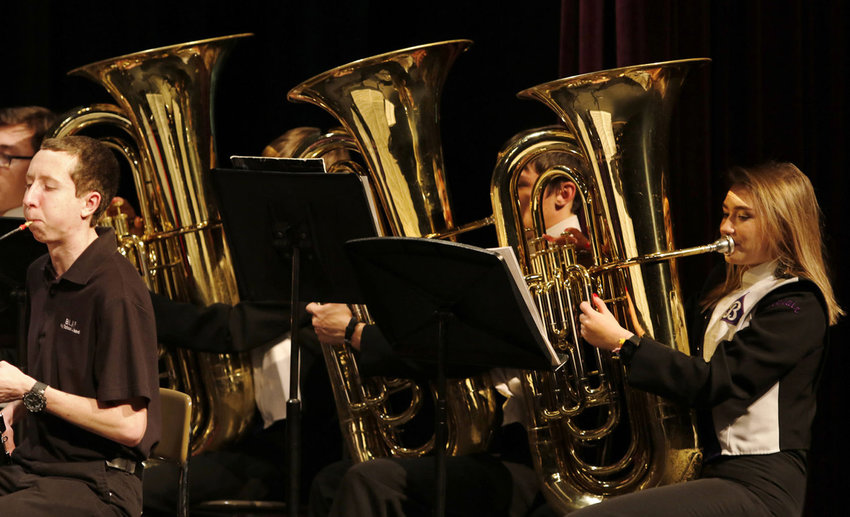 The Blair Fine Arts Boosters is fundraising in an effort to replace eight concert tubas for the Blair High School band.