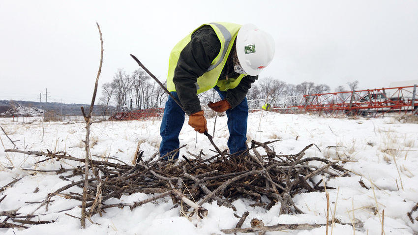 An osprey nest is being constructed on a 65-foot tall tower at the Omaha Public Power District's Fort Calhoun Station by the end of March. A webcam will also be installed for viewers to tune into the nest.
