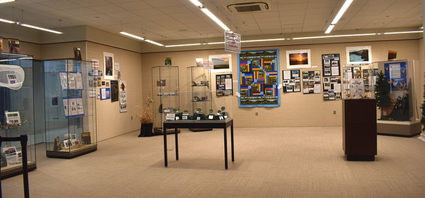 The latest exhibit at the Blair Public Library and Technology Center celebrates the 100th anniversary of the Nebraska Game and Parks Commission.