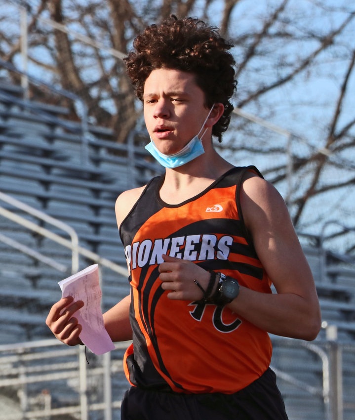 Runner Jacob Rupp warms up for Wednesday's track practice at Fort Calhoun High School.