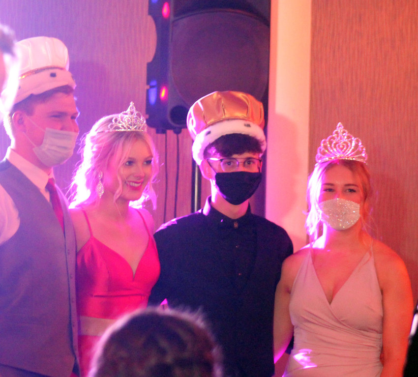 The prom court was nominated at Fort Calhoun High School's prom Saturday at the Thompson Alumni Center at the University of Nebraska at Omaha. From left, prince Zane Schwarz, princess Payton Pohlad, king Justin Fritz and queen Kaitlin Smith.