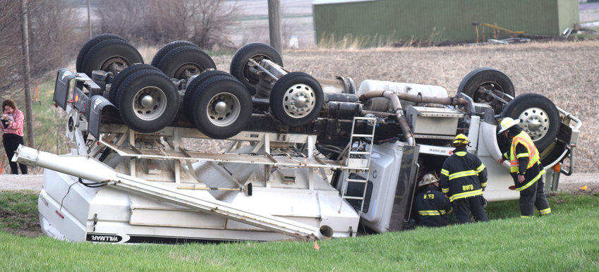 One person was injured when a grain truck rolled over Tuesday morning north of Blair. Washington County sheriff's deputies and Blair Rescue responded to the crash on U.S. Highway 75 near County Road 12 just before 9 a.m. .