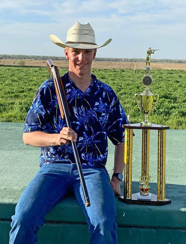 Arlington marksman Lane Johannes left the Cornhusker Trap Shoot with a first-place trophy last weekend.