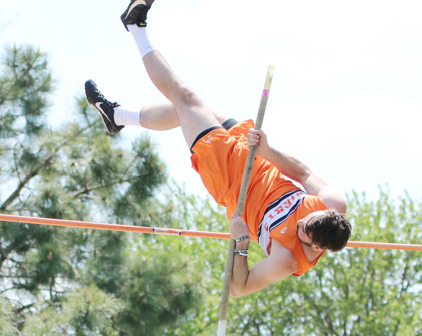 """Trey Deemer took 1st in the Pole Vault at the O-C Invite with a vault of 11'6""""."""