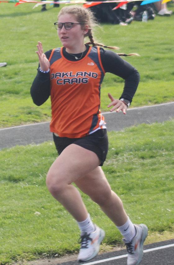 Morgan Ray ran in the 100m Dash at the OC Invite.