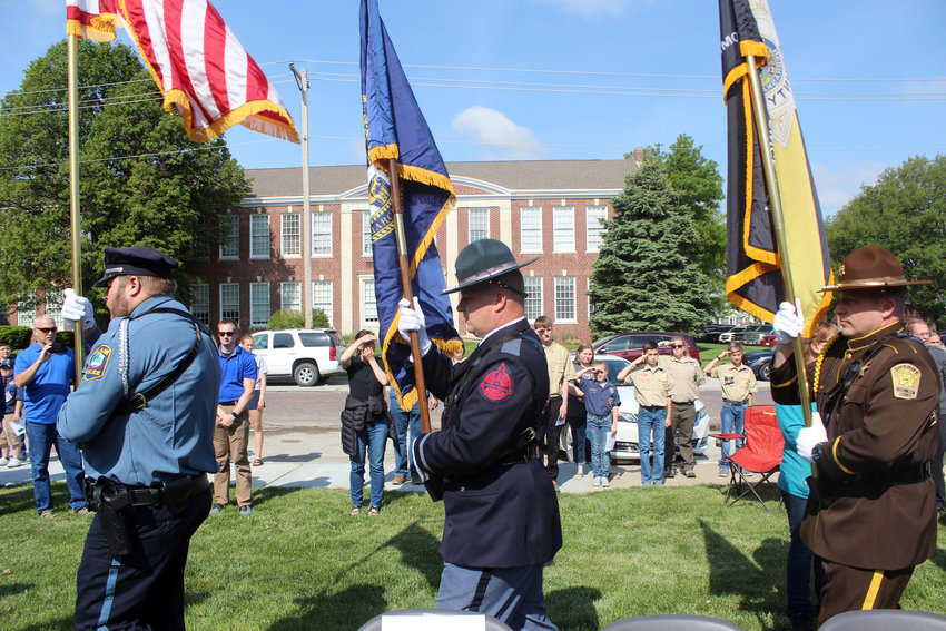 The National Peace Officers Memorial Day service was celebrated Saturday morning to honor several law enforcement officers in Nebraska who passed away. A parade of honor was presented by combined agencies' Honor Guard.