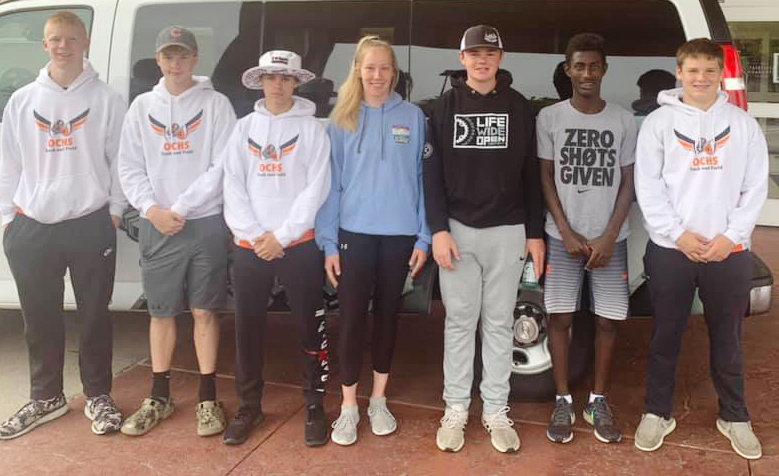 These Junior High athletes traveled to Gothemburg to  compet in the Junior High State Track meet. They are from left: Braylon Anderson, Jaxen Jorgensenl, Sylas Nelson, Brandi Helzer, Brady Jonson, Jeremiah Druckenmiller and Corbin Guill.