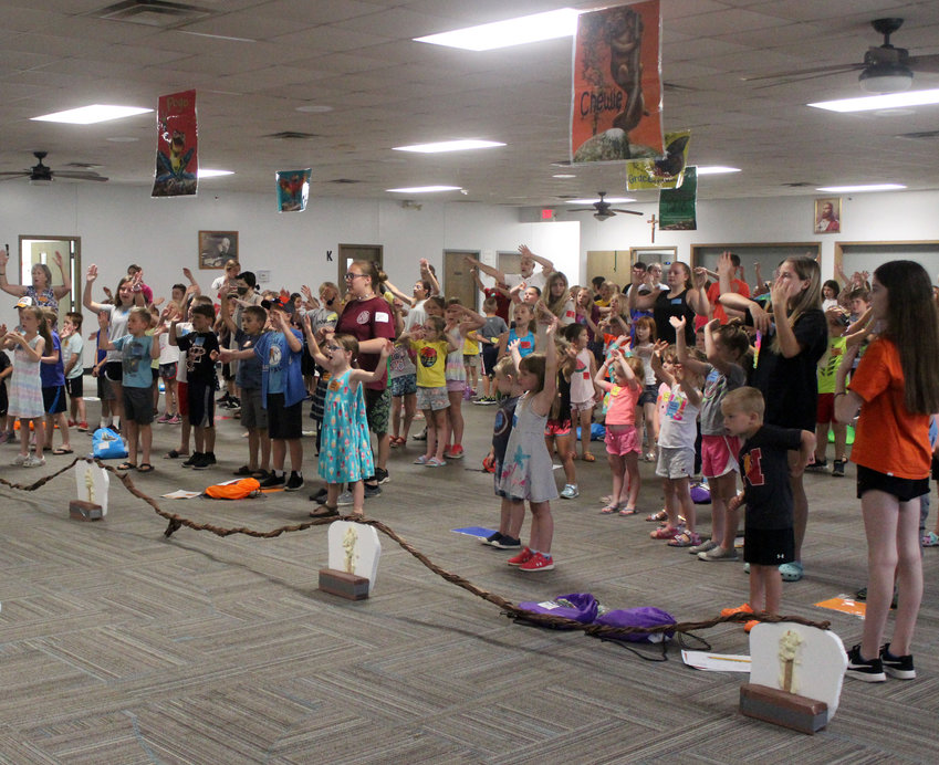 More than 140 children and more than 40 volunteers participated in Vacation Bible School, a joint effort by the Fort Calhoun Presbyterian Church and St. John the Baptist Catholic Church.