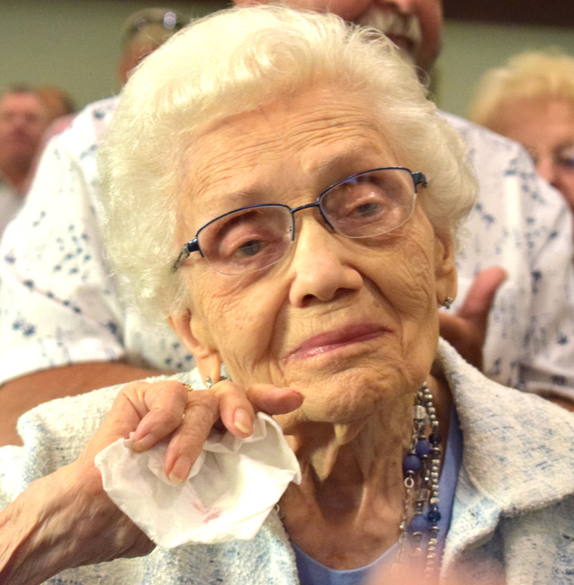 Dorothy Wilkening has been a member of the Salem Lutheran Fontanelle Church for 82 years. The church celebrated its 161st anniversary on Sunday.