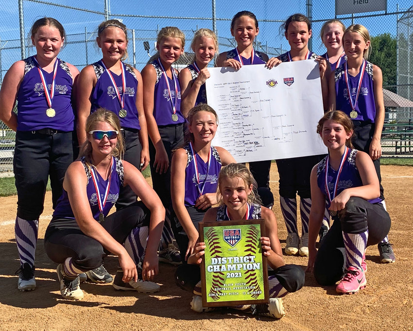 The age 12 and younger Blair Diamonds softball team won its District 8 Tournament last weekend at the BYSA Complex. The Diamonds went 6-0.