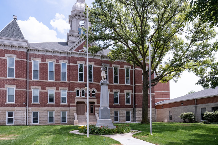 The Washington County Justice Center courthouse will be completed with a U.S. and Nebraska state flag before the ribbon-cutting event July 8.