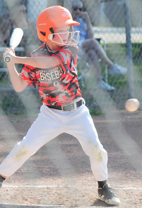Trey Sluyter is at bat as the ball crossed the plate during the West Point game.