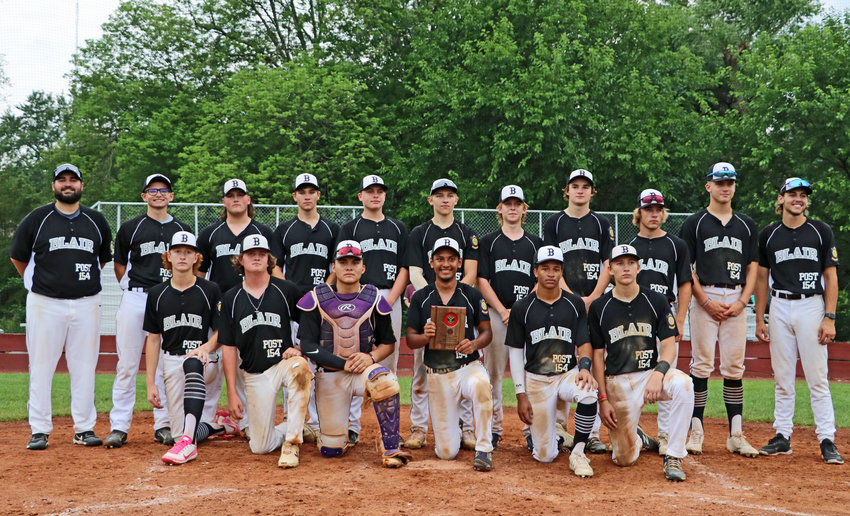The Blair Junior Legion baseball team closed its season with a 2-2 showing during the Class B Junior Legion State Tournament in Waverly.