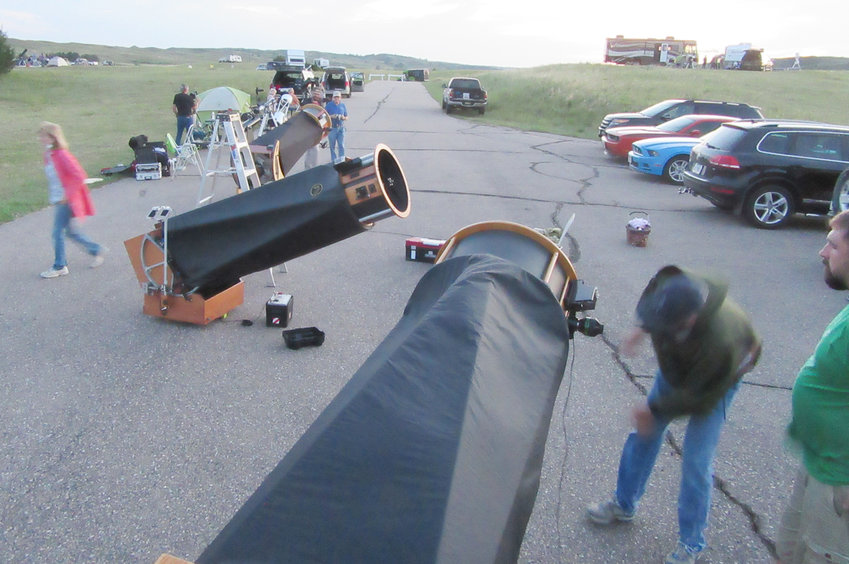 Pictured are just a few of the hundreds of large telescopes at the Nebraska Star Party held annually south of Valentine at Merritt Reservoir State Park.