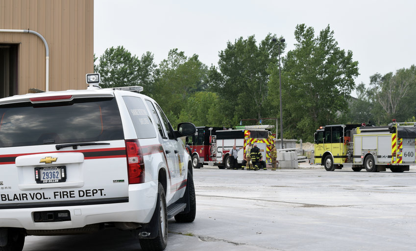 A gas line was struck at Gerhold Concrete Company in Blair on Friday afternoon. Blair and Fort Calhoun volunteer fire departments and Washington County sheriff's deputies responded to the incident around 1:30 p.m.