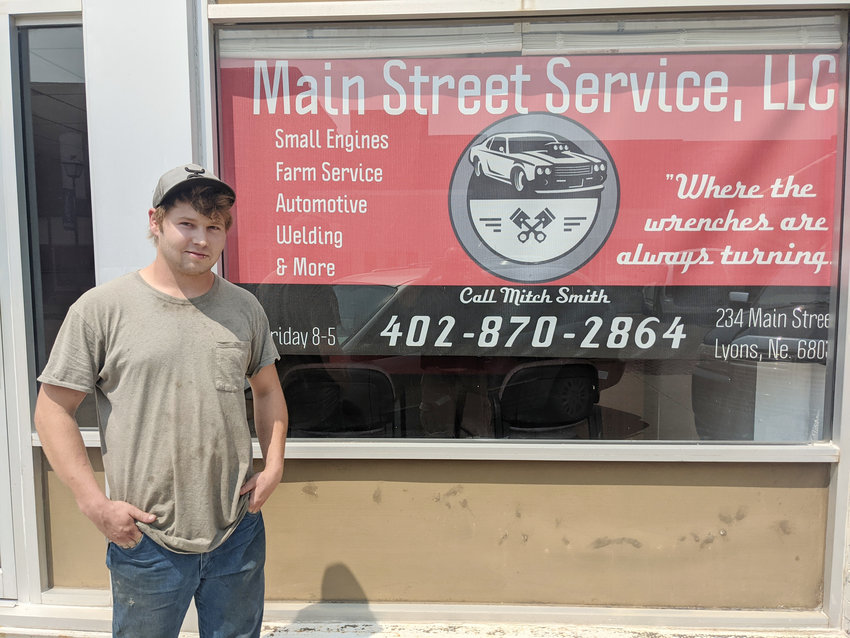 Just because you're young doesn't mean you can't be experienced. Mitch Smith is willing to show Lyons' Main Street that he can contribute with his business.