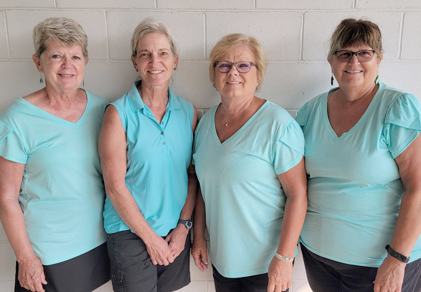 Ladies Winners Nancy Beard, Nancy Fada, Cynthia Svendsen, and Rachel Wise.