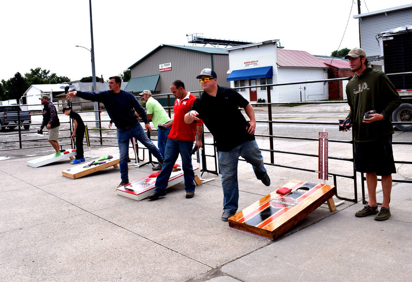 Twelve teams competed for the top spot at the cornhole tournament in Herman in 2020 as part of Herman Days at Petersen's Bar 75.