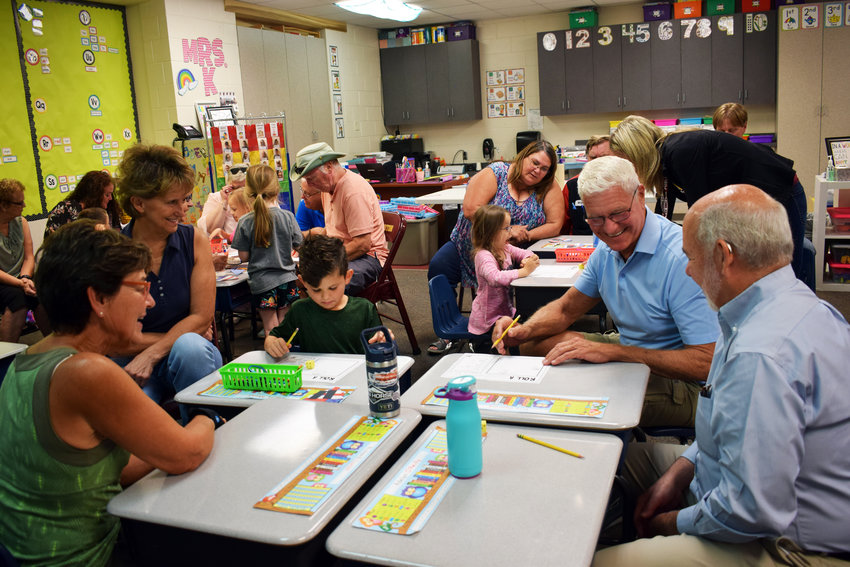 Kindergarteners were joined by grandparents on Sept. 10 for Grandparents Day at Arlington Elementary School.