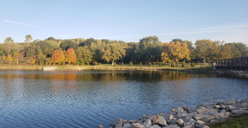 A lovely fall morning made for a good walk around Lake Cunningham in Omaha.