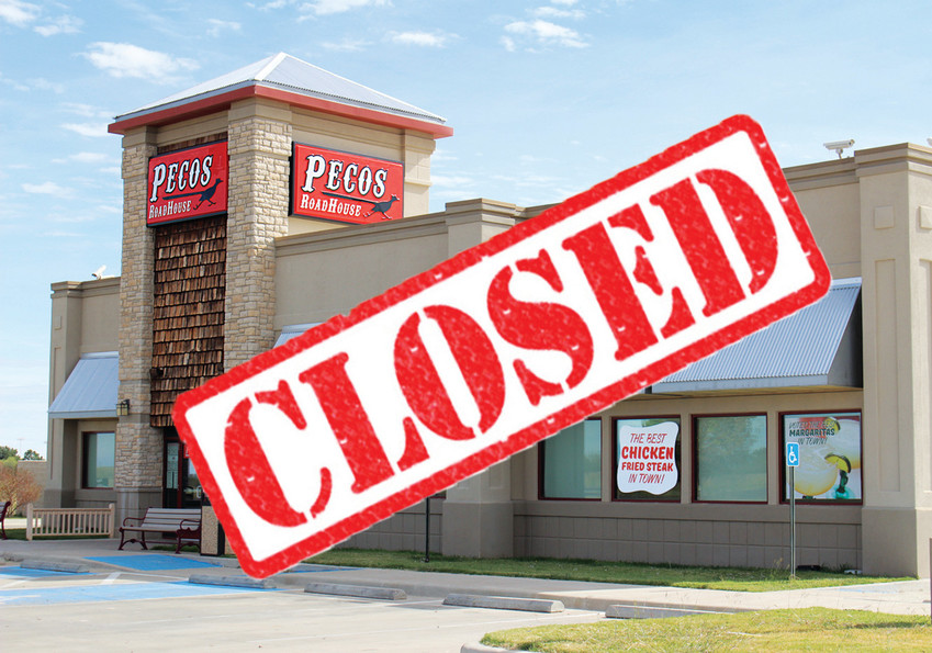 As of Sunday, Pecos Roadhouse has closed its doors permanently.